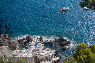 La Fontelina Capri from Above